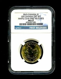 Click now to see the BUY IT NOW Price! 2015 O CANADA $1 NGC MS67 MAPLE LEAF LOON LOONIE FIRST RELEASES DOLLAR TOP