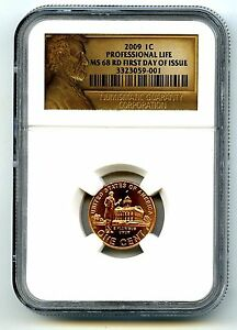 Click now to see the BUY IT NOW Price! 2009 P US MINT CENT PROFESSIONAL LIFE NGC MS68 RD FIRST DAY ISSUE ONLY 8 TOP POP