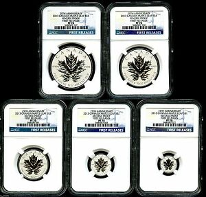 Click now to see the BUY IT NOW Price! 2013 CANADA SILVER MAPLE LEAF NGC PF70 REVERSE PROOF 25TH ANNIVERSARY SET   FR