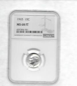 Click now to see the BUY IT NOW Price! 1965 P   ROOSEVELT DIME NGC MS 68 FT  BUSINESS STRIKE