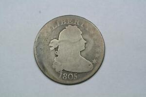 COIN    1805 DRAPED BUST QUARTER NICE AG CONDITION   C706