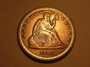 1841 SEATED LIBERTY QUARTER  XF  & ATTRACTIVE
