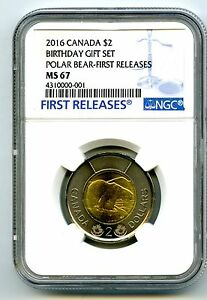 Click now to see the BUY IT NOW Price! 2016 CANADA $2 POLAR BEAR HAPPY BIRTHDAY SET TOONIE NGC MS67 FR 001 TOP POP 4