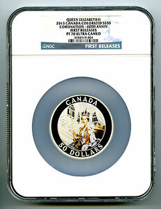 Click now to see the BUY IT NOW Price! 2013 CANADA 5 OUNCE SILVER NGC PF70 PROOF QUEEN'S CORONATION 60TH ANNIVERSARY FR