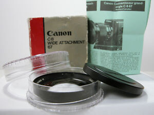 rare canon super 8 wide angle lens in box