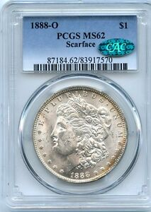Click now to see the BUY IT NOW Price! C8647  1888 O VAM 1B SCARFACE TOP 100 MORGAN DOLLAR PCGS MS62 CAC
