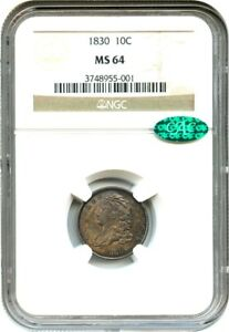 Click now to see the BUY IT NOW Price! 1830 10C NGC/CAC MS64  MEDIUM 10C  DESIRABLE TYPE COIN   BUST DIME