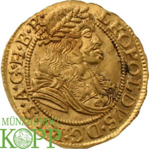 Click now to see the BUY IT NOW Price! AA3366  HAUS HABSBURG LEOPOLD I. 1657 1705. DUKAT 1676 GOLD