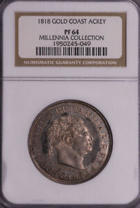 Click now to see the BUY IT NOW Price! NGC PF64 1818 GOLD COAST ACKEY