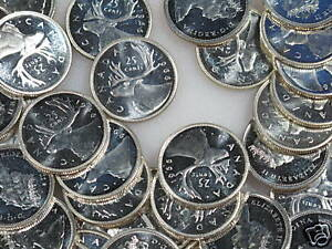 Click now to see the BUY IT NOW Price! 1965 CANADA PROOF LIKE 25 CENTS ROLL OF 40 QUARTERS