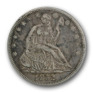 1852 O LIBERTY SEATED HALF DOLLAR PCGS VF 30 FINE TO XF KEY DATE COIN
