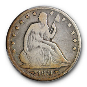 1874 CC LIBERTY SEATED HALF DOLLAR PCGS G 6 LOOKS VG   COLORFUL TONING KEY DATE