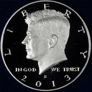 2013 S GEM CLAD PROOF KENNEDY HALF   ALWAYS BEST VALUE @ CHERRYPICKERCOINS