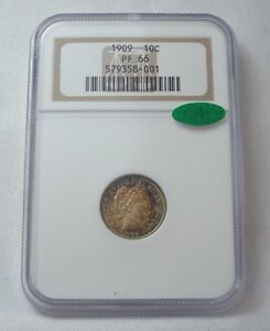 Click now to see the BUY IT NOW Price! 1909 BARBER DIME CERTIFIED NGC & CAC PROOF 66 SILVER 10C GORGEOUS TONING