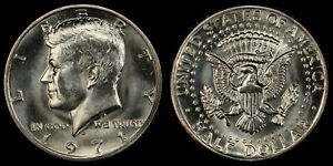 1971 D KENNEDY HALF DOLLAR   CHOICE BRILLIANT UNCIRCULATED FROM OBW ROLLS