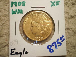 1908 $10 INDIAN GOLD/ LOW PRICE/ WITH MOTTO