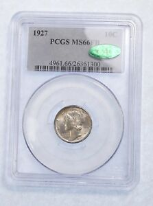 Click now to see the BUY IT NOW Price! 1927 MERCURY DIME CERTIFIED CAC & PCGS  MS 66 FULL BANDS SILVER 10C
