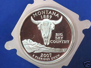 Click now to see the BUY IT NOW Price! 2007 S MONTANA STATEHOOD SILVER QUARTER DCAM GEM PROOF ROLL OF 40 COINS