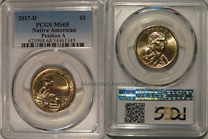 Click now to see the BUY IT NOW Price! 2017 D NATIVE SACAGAWEA DOLLAR $1 PCGS MS68 POSITION A PCGS POP 8/0