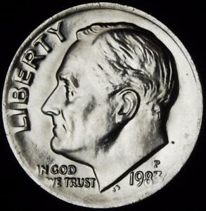 1983 P CHOICE BU ROOSEVELT DIME   ALL WHITE   BEST VALUE @ CHERRYPICKERCOINS 654