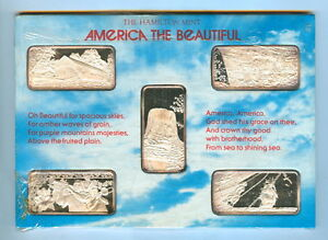 AMERICA THE BEAUTIFUL 5 OZ SILVER BARS   UNC