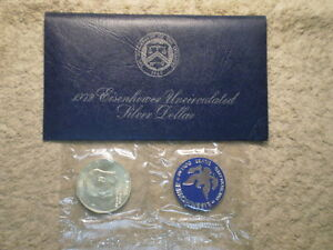 1972 S UNCIRCULATED IKE SILVER DOLLAR/ BLU PAK