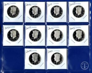 Click now to see the BUY IT NOW Price! 2009 S THROUGH 2018 S CLAD PROOF KENNEDY HALF DOLLAR SET GEM PROOF TEN COINS