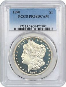 Click now to see the BUY IT NOW Price! 1890 $1 PCGS PR 68 DCAM   FINEST KNOWN    MORGAN SILVER DOLLAR   FINEST KNOWN