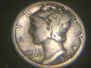 1927 S MERCURY DIME IN .VERY .ADD TO SET OR COLLECTION.