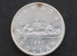 Click now to see the BUY IT NOW Price! 1957 BU CANADA SILVER DOLLAR ELIZABETH II CANADIAN COIN D7131
