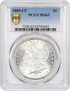 Click now to see the BUY IT NOW Price! 1889 CC $1 PCGS MS63   KEY DATE CARSON CITY MORGAN DOLLAR   MORGAN SILVER DOLLAR