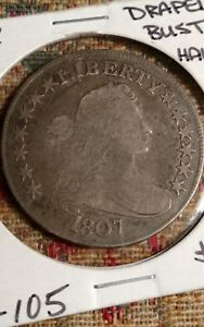 1807 DRAPED BUST HALF DOLLAR O 105