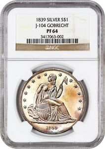 Click now to see the BUY IT NOW Price! 1839 GOBRECHT $1 NGC PR 64  JUDD 104 ORIGINAL MEDAL ALIGNMENT