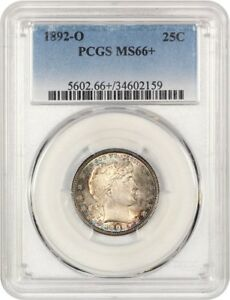 Click now to see the BUY IT NOW Price! 1892 O 25C PCGS MS66  SATINY GEM   BARBER QUARTER   SATINY GEM