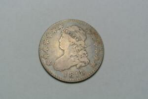 1818 CAPPED BUST QUARTER DOLLAR FINE/VF ORIGINAL TONING   C6262