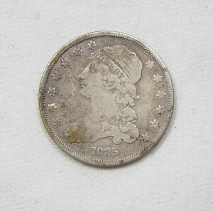 1835 CAPPED BUST QUARTER GOOD SILVER 25C