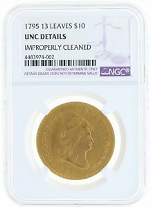 Click now to see the BUY IT NOW Price! 1795 13 LEAVES NGC UNC DETAILS $10 CAPPED BUST RIGHT SMALL EAGLE