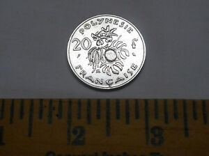 1967 FRENCH POLYNESIA 20 FRANCS COIN BREADFRUIT