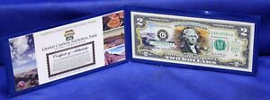 THE NEW ENGLAND MINT  U.S. COLORIZED $2 BANKNOTE GRAND CANYON NATIONAL PARK