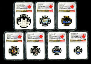 Click now to see the BUY IT NOW Price! 2018 CANADA RCM 7 COIN COLORED SILVER PROOF NGC PF70 FIRST RELEASES COMPLETE SET