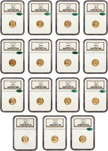 Click now to see the BUY IT NOW Price! $2 1/2 INDIAN SET NGC/CAC MS64   BEAUTIFULLY MATCHED SET   2.50 INDIAN GOLD COIN