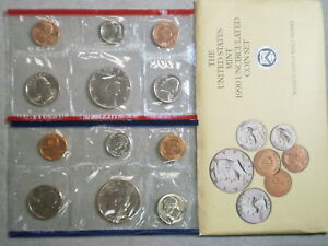 1990 U.S. UNCIRCULATED MINT SET IN ORIGINAL ENVELOPE
