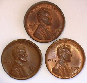 3 PCS. EARLY CENTS W/BROADSTRIKES