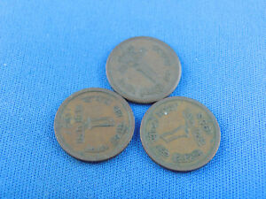 INDIA  3 OLD COINS  SEE SCAN   A15/81B