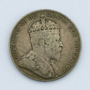 1909 50C NEWFOUNDLAND SILVER FIFTY CENTS