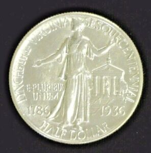 1936 LYNCHBURG SILVER COMMEMORATIVE HALF BU      3218NAM