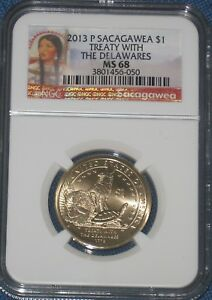 2013 P SACAGAWEA DOLLAR NGC GRADED MS 68 BUSINESS STRIKE NATIVE AMERICAN $1