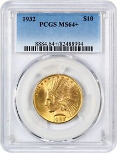 1932 $10 PCGS MS64    INDIAN EAGLE   GOLD COIN   NICE ORIGINAL LUSTER