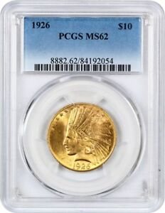 1926 $10 PCGS MS62   INDIAN EAGLE   GOLD COIN   FLASHY LUSTER