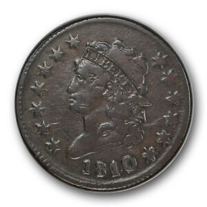 1810/09 1C CLASSIC HEAD CENT FINE VF US TYPE COIN R100